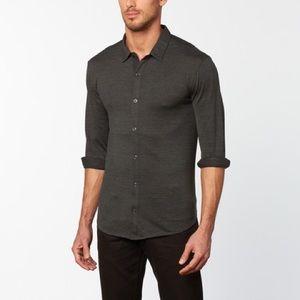 John Varvatos Long Sleeve Button Shirt Charcoal